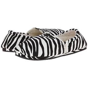 Pantufla Isaac Mizrahi Zebra #25 Oferta