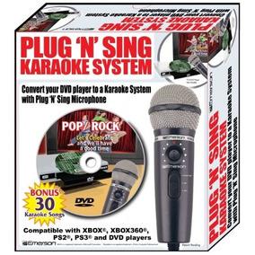Emerson Mm205 Plug N Micrófono Karaoke Cantar Canciones De