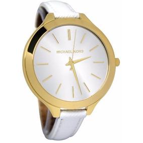 Relógio Michael Kors Branco Com Dourado De Couro - Relógios De Pulso ... 92a3930f85