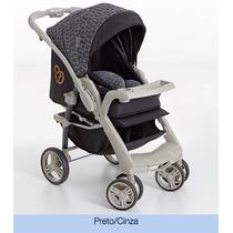 Carrinho Bebê Galzerano Optimus Travel System Preto E Cinza