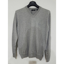 Suéter Gris Hugo Boss Black Cuello En V Regular Fit Xl ¡¡
