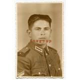 Foto Postal Retrato Soldado Del Ejercito Argentino 1950