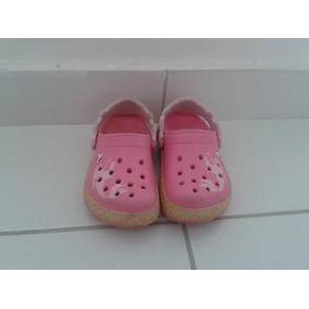 Crocs Rosa Menina - Tamanho 18