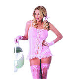 Sexshop - Disfraz Erotico Jardinera Con Medias