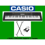 Organo Casio Ctk2200 61tecl T/piano 48polif.400s.150rit.usb