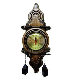 Relógio De Parede Francês Em Madeira Entalhada Luxo