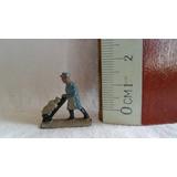 Muñeco Figura Plomo Miniatura Trabajador Obrero Para Maqueta