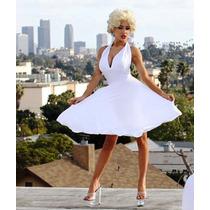 Vestido Marilyn Monroe Seda Fria Talles Xs A Lxxxxxxxl Falda