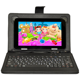 Tablet Android Pc 7 Pulgadas Wifi 8gb Qcore Funda Teclado E