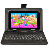 Tablet Android Pc 7 Pulgadas Wifi 8gb Qcore Funda Teclado E