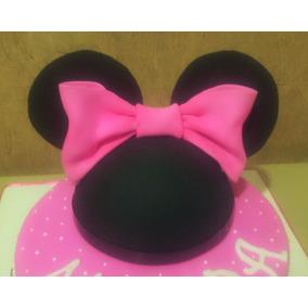 Adorno Para Tortas Cabeza Orejas De Minnie Mickey