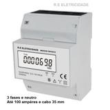 Medidor Bifásico Trifásico 100 A 60 Hz Cabo 35 Mm