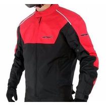 Jaqueta Moto Impermeavel Proteção Vermelha Motosky Texx
