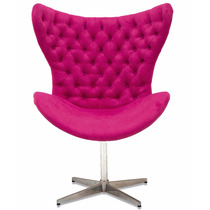 Cadeira Poltrona Egg Decorativa Rosa Pink Para Sala E Quarto
