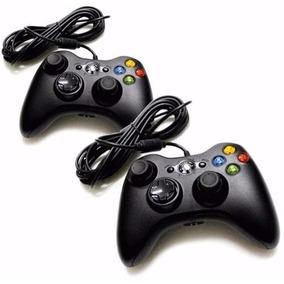 Kit 2 Controle Xbox 360 Computador C/ *fio* Joystick Feir