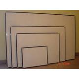 Pizarra Acrilica Blanca Con Marco Aluminio 60 X 80 Fabrica