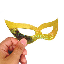 Kit 12 Mascaras Holográficas Elástico Festas Fantasia Carnav