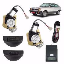 Kit Vidro Eletrico Chevette C/quebra Vento + Trava+ Alarme