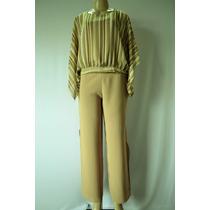 Conjunto Calça Pantalona Ampla + Regatinha + Blusa Cropped