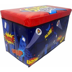 Puff Bau Infantil Para Guardar Brinquedos Organizadora Caixa