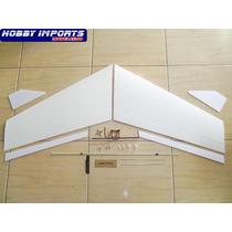 Kit Asa Zagi 120cm Mh-45 Washout+montante Embutido+linkagem