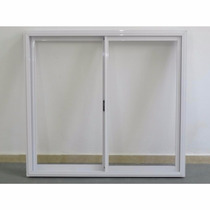 Ventanal Aluminio Color Blanco 200 X 200 S/ Vidrio