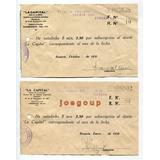 2 Recibos Subscripcion Diario La Capital Rosario 1937 1938