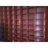 Biblioteca De Madera A Medida Lustrada Personalizada De 3x3m