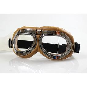 Óculos Proteção Aviador Moto Vintage Café Racer Cristal