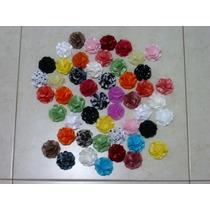 Flores Tecido Camélia 5cm Artesanato Kit10un