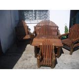 Sillones Rustico Y Muebles De Madera Y Troncos A Medidas