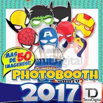 Props Photo Booth Kit Imprimible Fiestas Bodas Cartelitos