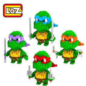 Tartarugas Ninja Blocos De Montar Loz Novo Sem Caixa