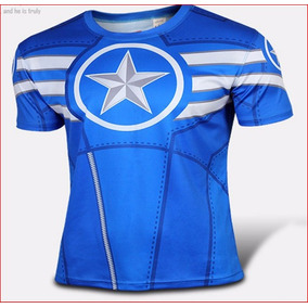 Camisa, 3d Capitao America, Marvel,super Herois
