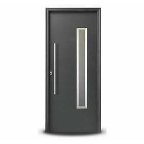 Puerta Negra Oblak 1788 Exterior Frente Vidrio Seguridad 3+3