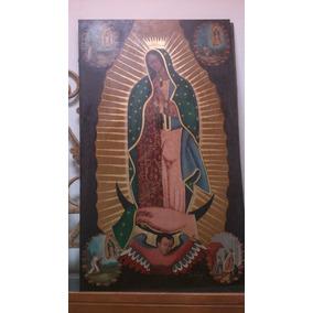 Virgen De Guadalupe En Oleo Con La 4 Apariciones