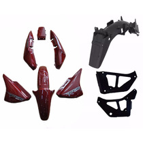 Kit Plástico Carenagem - Honda Cg Titan 150 2008 Ks Vermelho