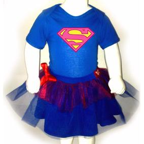Disfraz Halloween Para Bebes Pañalero +tutu- Super Girl 2