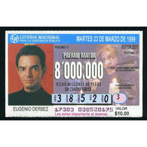 Billete De Loteria Eugenio Derbez