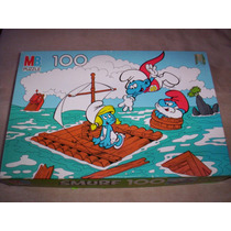 Smurf Pitufos Rompecabezas 100 Piezas Milton Bradley Peyo ++