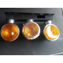 Lanterna 3 Marias Cromada Montada Com Lampadas Caminhão