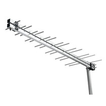 Antena Tv Externa Uhf Digital Hdtv 28 Elementos Potente Log