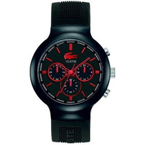 Reloj De Pulsera Rojo Y Negro 2010652 Unisex Lacoste
