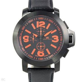 Reloj Uhr-kraft Crono Alemán, Hombre, Acero Y Piel