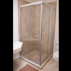 Cancel Regadera Baño Vidrio Templado Cubo 6mm Tr63