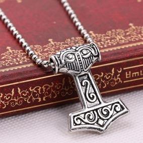 Pingente Mjolnir Viking Martelo De Thor 2 Lados Frete Grátis
