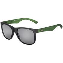 Mormaii Lances - Óculos De Sol Cinza E Verde Fosco/ Preto