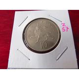 Zz#57 Moneda Del Mundo 10 New Pence 1976
