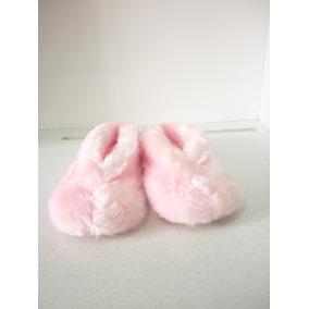 Pantuflas - Slippers - Babuchas Rosadas De Mujer Talla 6