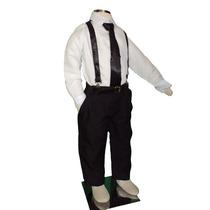 Conjunto Infantil C/suspensório Criança Camisa-gravata Festa